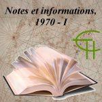 Notes brèves et informations 1970-1