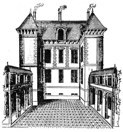 La maison de Philibert de l'Orme (tiré de A. Blunt Philibert de l'Orme : fig. 24 Photo : M. Descossy)