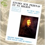 Revue Etudes sur Pézenas et sa région 1973-4 Tricentenaire de Molière