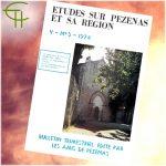 Revue Etudes sur Pézenas et sa région 1974-3