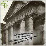 Les inhumations à la chapelle de l'Oratoire de Pézenas de 1618 à 1770