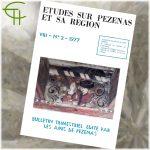 Revue Etudes sur Pézenas et sa région 1977-2