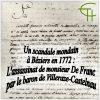 Un scandale mondain à Béziers en 1772 : L'assassinat de monsieur De Franc par le baron de Villeraze-Castelnau