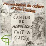 Présentation du cahier d'Elie Castan