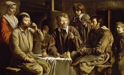 LE NAIN Louis (1593 - 1648), repas de paysans (Musée du Louvre)