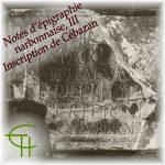 Notes d'épigraphie narbonnaise III Inscription de Cébazan