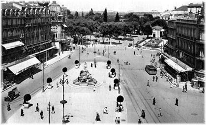 La Place de la Comédie à Montpellier dite la