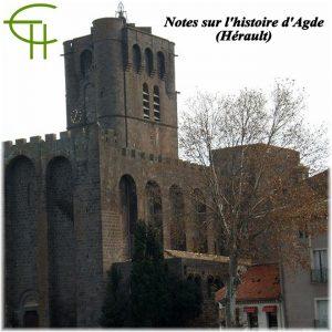 Notes sur l'histoire d'Agde