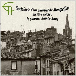 Sociologie d'un quartier de Montpellier au XVe siècle : le quartier Sainte-Anne