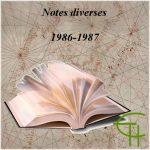 Notes diverses 1987-1988