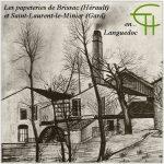 Les papeteries de Brissac (Hérault) et Saint-Laurent-le-Minier (Gard) en Languedoc