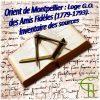 Orient de Montpellier : Loge G.O. des Amis Fidèles (1779-1793). Inventaire des sources