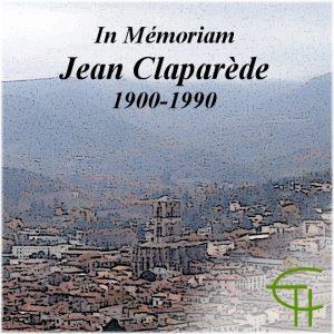 In memoriam – Jean Claparède (1900-1990)