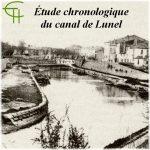 Étude chronologique du canal de Lunel (canal de la Radelle)