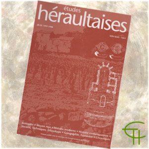 Revue Etudes Héraultaises 1997-1998 n° 28-29