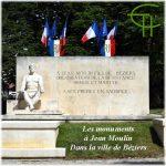 Les monuments à Jean Moulin dans la ville de Béziers