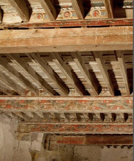 Le plafond peint du château de Capestang