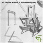 La laveuse de laine et de filaments (1842) inventée par Etienne Sémat (1787-1865) de Saint-Pons-de-Thomières