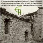 L'abbaye de Gellone (Saint-Guilhem-le-Désert, Hérault), Châteauneuf-de-Gadagne <br/>et les prieurés de Saint-Didier et Saint-Marcellin (Valernes, Alpes-de-Haute-Provence)