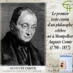 Le premier texte connu d'un philosophe célèbre né à Montpellier: Auguste Comte