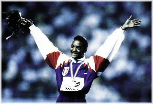 Maryse Ewanje-Epée championne d'Europe le 30 août 1990