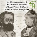 Les « Communes idées », de Louis-Xavier de Ricard et Lydie Wilson de Ricard à leur arrivée à Montpellier