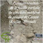 Premiers résultats de la fouille partielle du cimetière médiéval du prieuré de Cassan (Roujan – Hérault)