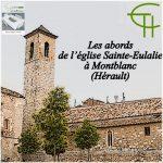Les abords de l'église Sainte-Eulalie à Montblanc (Hérault)