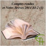 Comptes rendus et Notes Brèves 2014 44-2 (1)