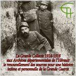 La Grande Collecte 1914-1918 aux Archives départementales de l'Hérault