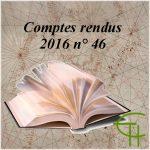 Comptes rendus 2016 : Sommaire des revues échangées