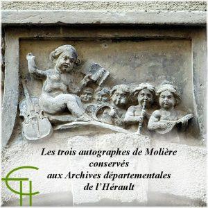 Les trois autographes de Molière conservés aux Archives départementales de l'Hérault