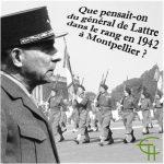 Que pensait-on du général de Lattre dans le rang en 1942 à Montpellier ?