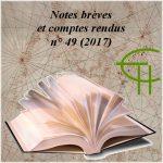 Notes brèves et compte rendus n° 49 (2017)
