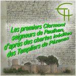 Les premiers Clermont seigneurs de Paulhan, d'après des chartes inédites des Templiers de Pézenas