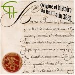 Origine et histoire du BnF Latin 3881