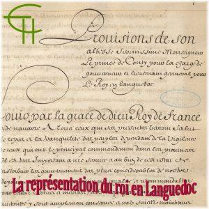 La représentation du roi en Languedoc