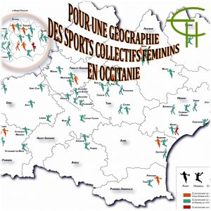 Basket, Handball, Volley, Football, Rugby : Pour une géographie des sports collectifs féminins en Occitanie