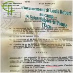L'internement de Louis Robert au camp de Saint-Sulpice-la-Pointe (Tarn)