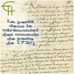 La peste dans le cérémonial des consuls relation de la peste de 1720-1723