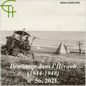 Revue Etudes Héraultaises n°56, Achtung Minen ! le défi du déminage dans l'Hérault (1944-1948), Hélène REBOURS