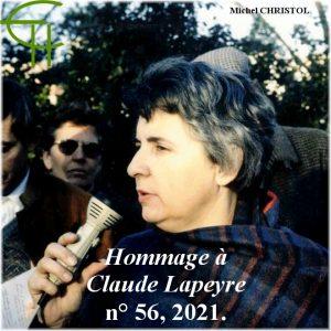 Revue Etudes Héraultaises n°56, CLAUDE LAPEYRE (13/11/1933-12/11/2019), Michel CHRISTOL
