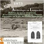 Fédération Archéologique de l'Hérault 1973 <br/>Bulletins de liaison