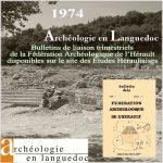 Fédération Archéologique de l'Hérault 1974 <br/>Bulletins de liaison