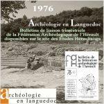 Fédération Archéologique de l'Hérault 1976 <br/>Bulletins de liaison