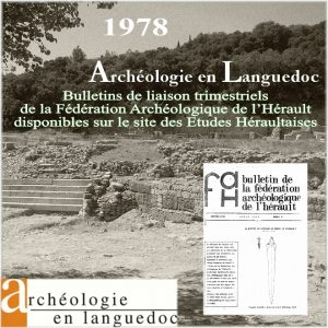 Fédération Archéologique de L'Hérault 1978 Bulletins de liaison 1 à 4