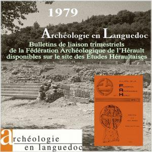 Fédération Archéologique de L'Hérault 1979 Bulletins de liaison 1 à 4