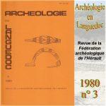 Archéologie en Languedoc 1980 n°3