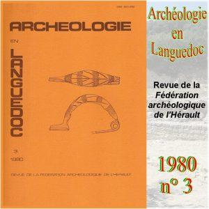 Revue Archéologie en Languedoc 1980-3