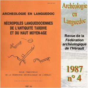 Revue Archéologie en Languedoc 1987-4
